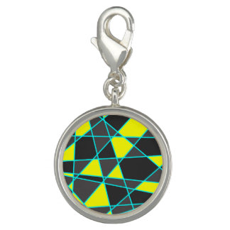 elegant geometric bright neon yellow and mint