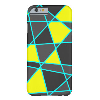 elegant geometric bright neon yellow and mint barely there iPhone 6 case