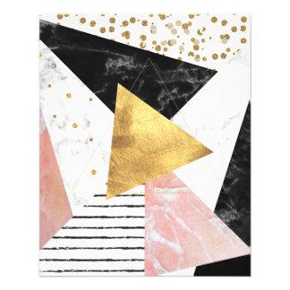 Elegant geometric marble and gold design flyer