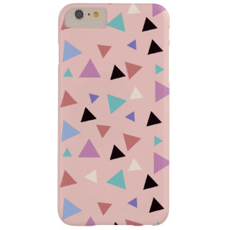 Elegant geometric pattern pink purple mint black barely there iPhone 6 plus case