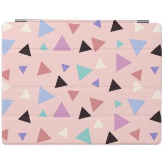 Elegant geometric pattern pink purple mint black iPad cover