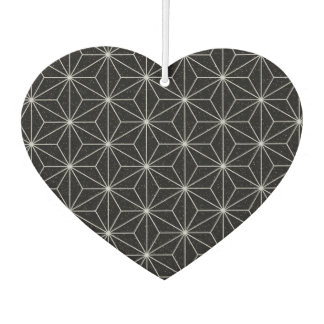 Elegant Geometric Pattern -Silver & Black- Car Air Freshener