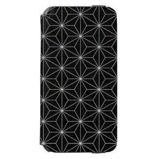 Elegant Geometric Pattern -Silver & Black- Incipio Watson™ iPhone 6 Wallet Case