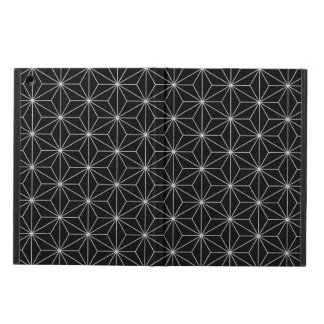 Elegant Geometric Pattern -Silver & Black- iPad Air Cover