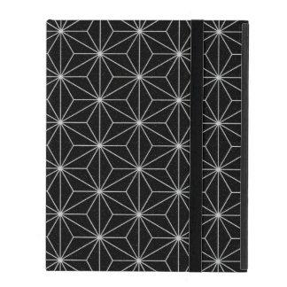 Elegant Geometric Pattern -Silver & Black- iPad Cover