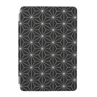 Elegant Geometric Pattern -Silver & Black- iPad Mini Cover