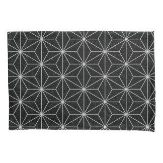 Elegant Geometric Pattern -Silver & Black- Pillowcase