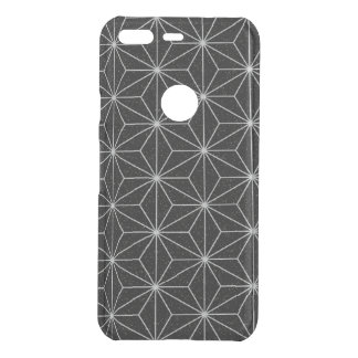 Elegant Geometric Pattern -Silver & Black- Uncommon Google Pixel Case