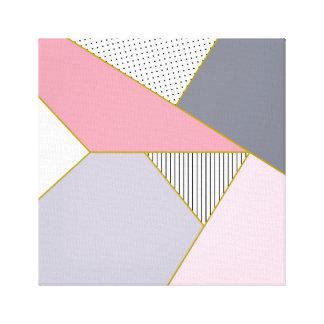 Elegant geometric stripes polka dots pastel canvas print