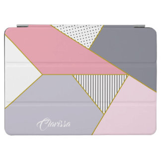 Elegant geometric stripes polka dots pastel iPad air cover