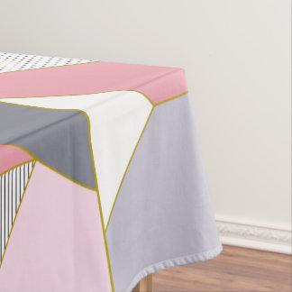 Elegant geometric stripes polka dots pastel tablecloth
