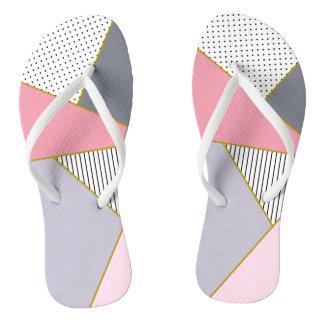 Elegant geometric stripes polka dots pastel thongs