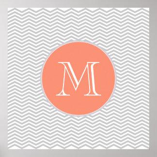 Elegant geometry of chevrón and monograma print