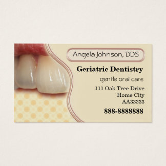 Elegant Geriatric Dentistry Business Card