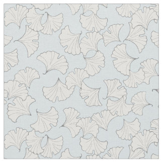 Elegant ginkgo leaves with custom background color fabric