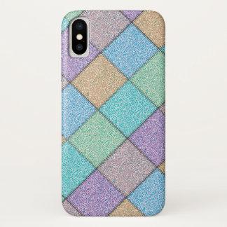 elegant girly  colorful patchwork damask iPhone x case