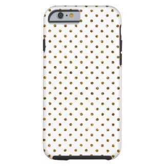 Elegant Girly Cute Polka Dots Glitter Photo Print Tough iPhone 6 Case