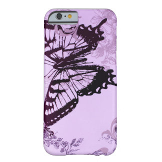 Elegant girly fashion Purple Butterfly Barely There iPhone 6 Case