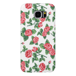 Elegant Girly Floral - Stylish Red Rose Flowers Samsung Galaxy S6 Cases