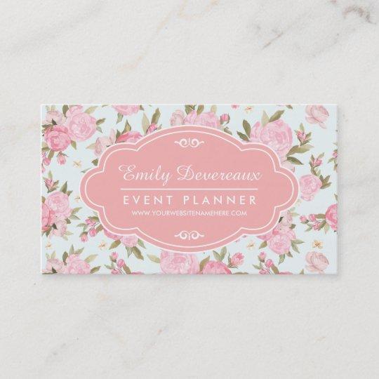 Elegant girly floral vintage personalised business card zazzle elegant girly floral vintage personalised business card reheart Choice Image