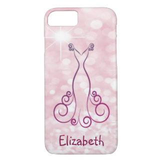Elegant Girly Glittery Bokeh -Dress -Personalized iPhone 8/7 Case