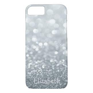 Elegant Girly Glittery Bokeh -Personalized iPhone 8/7 Case