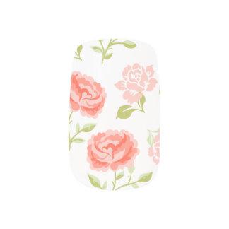 Elegant Girly Pink Roses Minx Nail Art