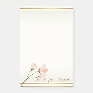 Elegant Girly Stylish,Flower Post-it Notes
