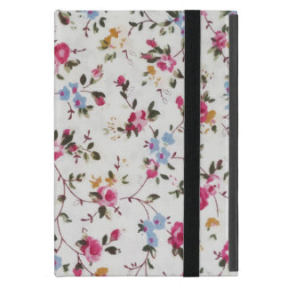 Elegant girly trendy vintage roses  floral pattern iPad mini cover