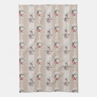 Elegant Girly Vintage Floral Tea Towel