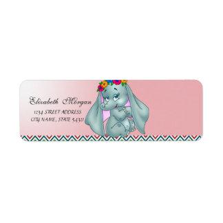 Elegant Glamorous Cute Elephant  Address Label
