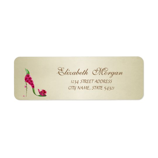 Elegant Glamourous  Address Label-Heel Return Address Label