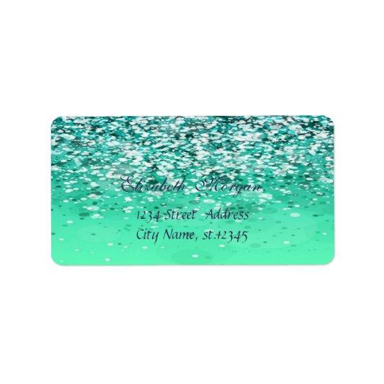 Elegant Glamourous  Chic Glittery Bokeh Address Label