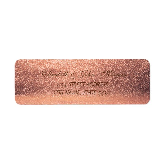 Elegant Glamourous  Glittery   Address Label