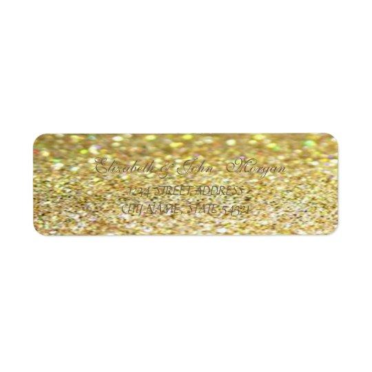 Elegant Glamourous  Glittery Address Label