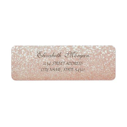 Elegant Glamourous  Glittery  Bokeh Address Label