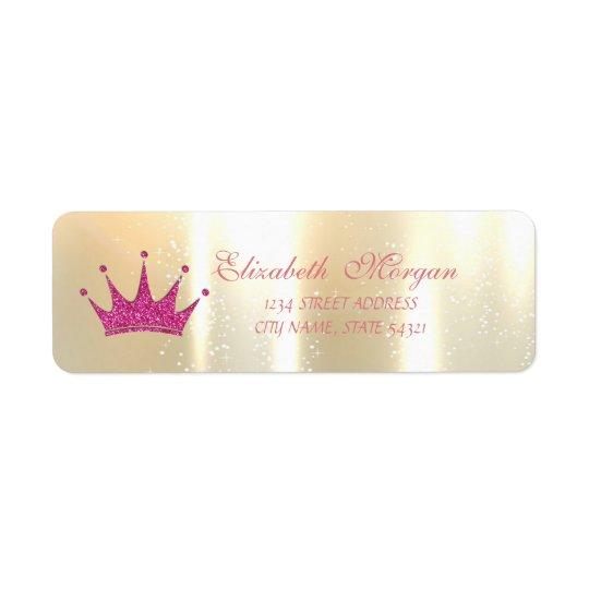 Elegant Glamourous , Glittery Tiara, Address Label