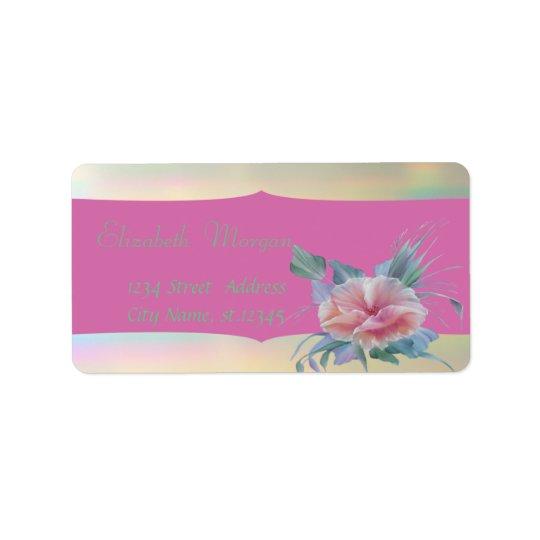 Elegant Glamourous Stylish Romantic,Flower Address Label