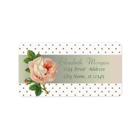 Elegant Glamourous Stylish Romantic,Polka Address Label