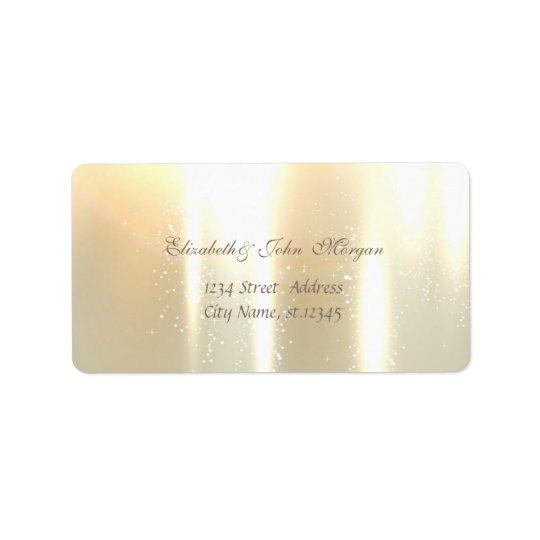 Elegant Glamourous  Stylish Shiny Address Label