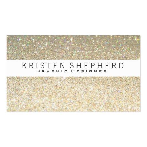 Elegant Glitter Gold Business Cards