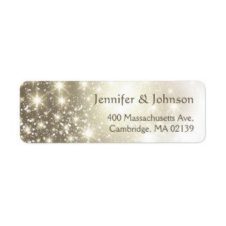Elegant Glitter Sparkles Wedding Return Address Label