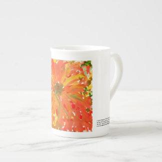 Elegant glorious orange flower mug