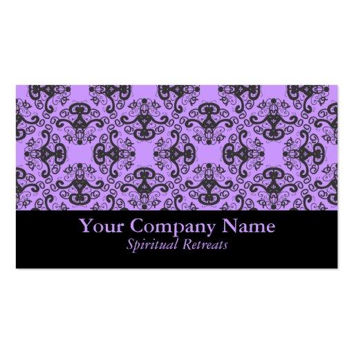 Elegant Goddess Damask Custom Business Cards