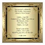 Elegant Gold 50th Wedding Anniversary Party 13 Cm X 13 Cm Square Invitation Card
