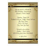 Elegant Gold 50th Wedding Anniversary Party 13 Cm X 18 Cm Invitation Card