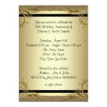 Elegant Gold 50th Wedding Anniversary Party Personalised Invitation