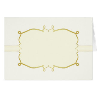 Elegant gold abstract frame card