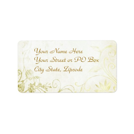 Elegant Gold Address Label