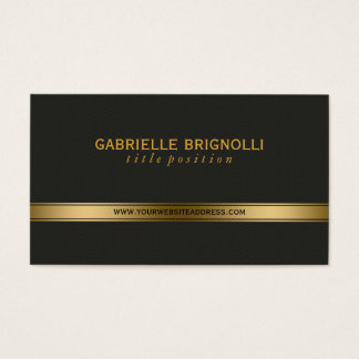 Elegant Gold And Back Texture Background Business Card